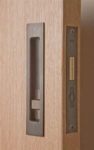 Sliding door hardware hb 690 privacy lock halliday for Bathroom pocket door hardware