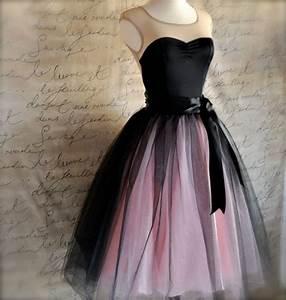 Black and pink tutu skirt for women. Ballet glamour. Retro look tulle skirt | Ballet Dress ...