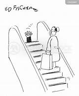 Stairs Stair Moving Cartoon Cartoons Funny Comics Escalator Staircase Safety Cartoonstock Accident Illustration sketch template