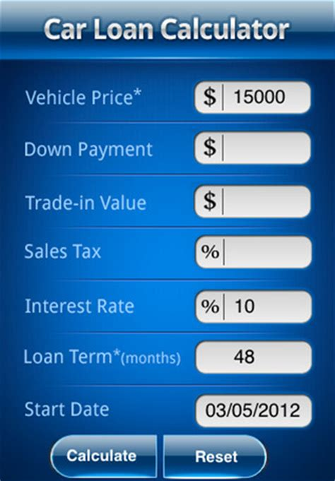 car loan calculator pro app  ipad iphone finance