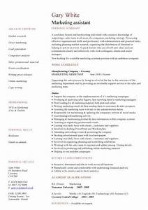 marketing assistant cv sample With cv template for marketing job