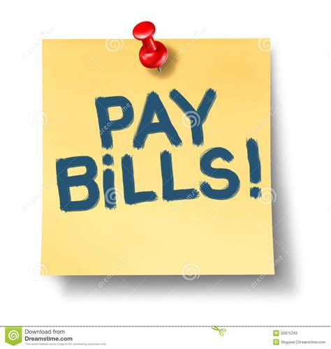 pay bills stock  image
