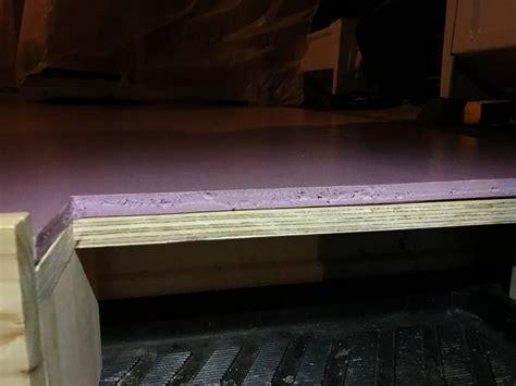 insulating  floor   camper van build sprinter vanbuild vanlife fiberglass