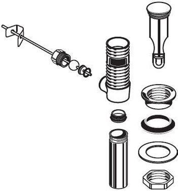 Bathroom Sink Drain Repair Kit by American Standard M953450 0020a Metal Drain And Stopper