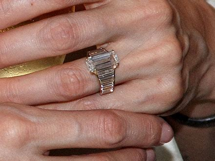 angelina and brad see jolie s engagement ring up close