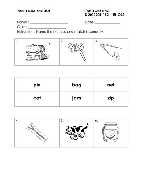 worksheet english year 2 kssr english test year 3 paper