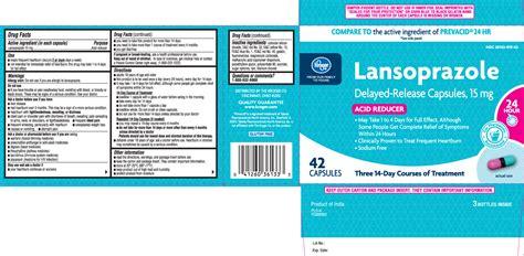 lansoprazole capsule delayed release  kroger