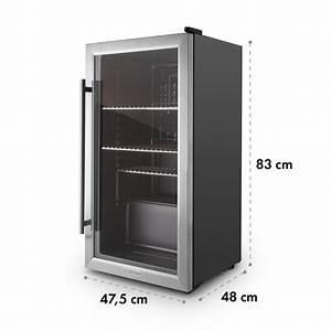 Kühlschrank 80 Liter : beersafe xxl mini nevera frigorifico peque o puerta vidrio 85 l negro plata 80 ltr klarstein ~ Markanthonyermac.com Haus und Dekorationen