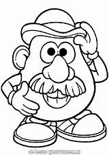 Coloring Mr Pages Potato Head Printable Ratings Yet sketch template