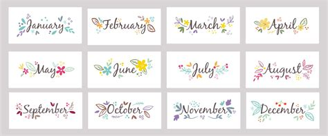 6 Best Images of Printable Months Of The Year Chart ...