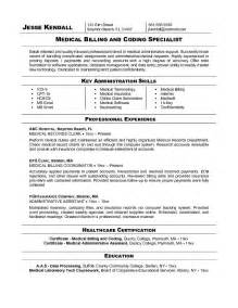 Billing Resumes by Billing And Coding Resume Exles Cool Stuff To