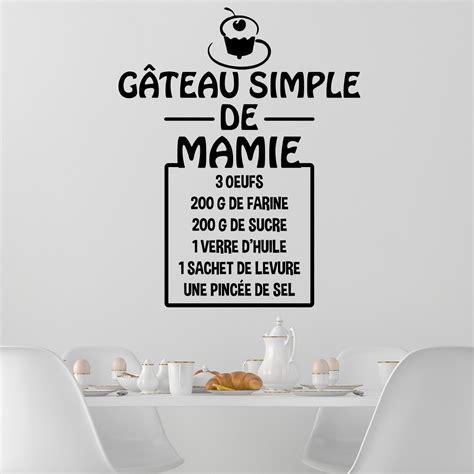 sticker cuisine citation sticker citation recette gâteau simple de mamie stickers