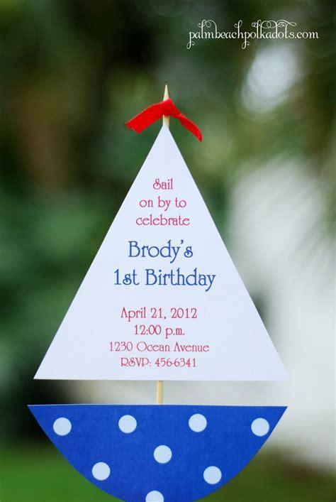 sailboat nautical birthday  baby shower party
