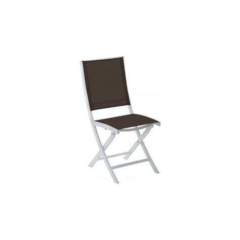chaise pliante aluminium textilene chaise de jardin pliante aluminium blanc textilène chocolat achat vente fauteuil jardin