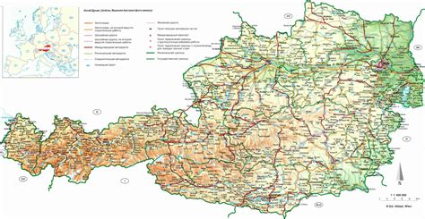 road map  austria austria road map vidianicom maps