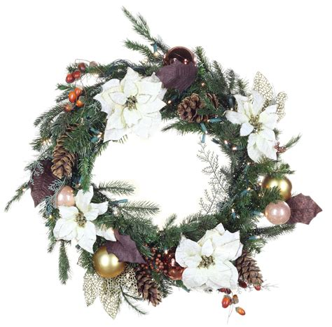 decorative wreaths vermont white battery operated led