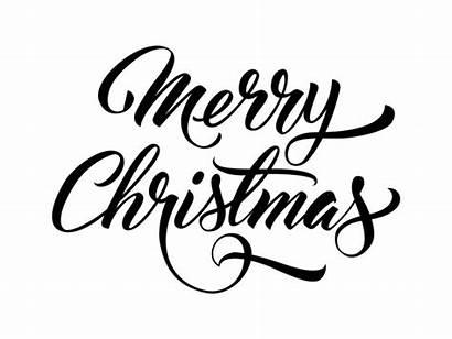 Merry Christmas Text Handwritten Vector Fonts Font