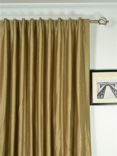 Wide Curtains by Wide Swan Floral Damask Back Tab Curtains 100 120