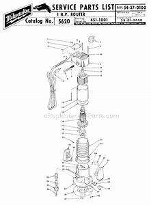 Milwaukee 5610 Parts List And Diagram