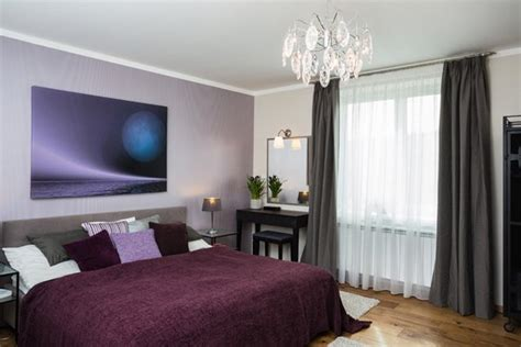 Stunning Black, White And Purple Bedrooms