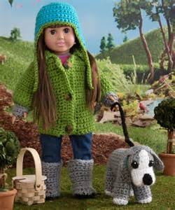 "Red Heart Free Crochet Patterns 18"" Doll"