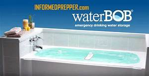 Waterbob emergency drinking water storage for Is bathroom tap water drinking water