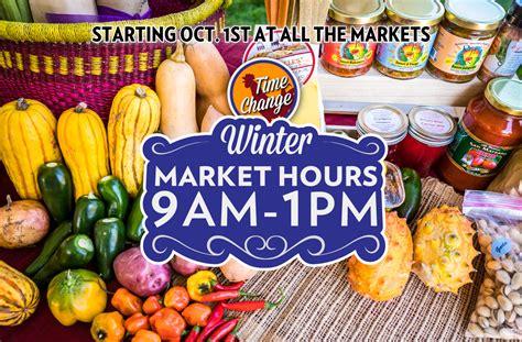 Winter Hours Start / Heirloom Farmers Markets