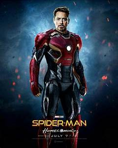 Fanmade Spidey: Homecoming Iron Man Suit on Poster