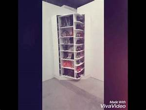 meuble chaussure pivotant youtube With meuble a chaussures miroir conforama