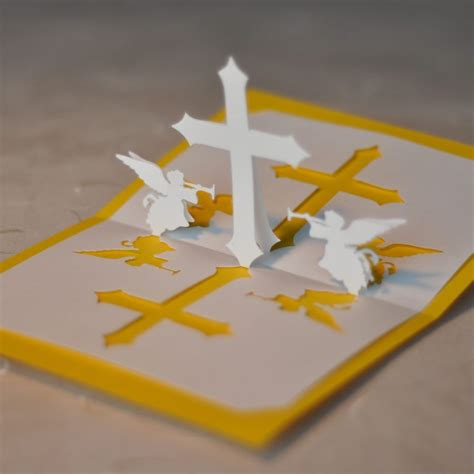 religious easter card templates christian cross pop up card template card