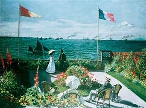 Garden at Sainte-Adresse by Claude Monet - Garden at ...