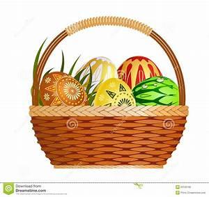 Panier A Oeuf : mand met paaseieren vector illustratie illustratie bestaande uit bloemen 20120760 ~ Teatrodelosmanantiales.com Idées de Décoration