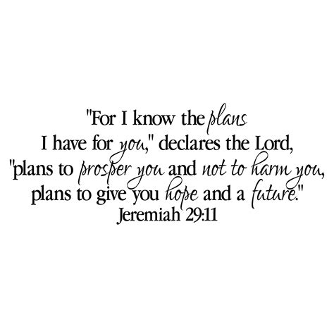 jeremiah 29v11 vinyl wall decal 13 for i the plans i for you