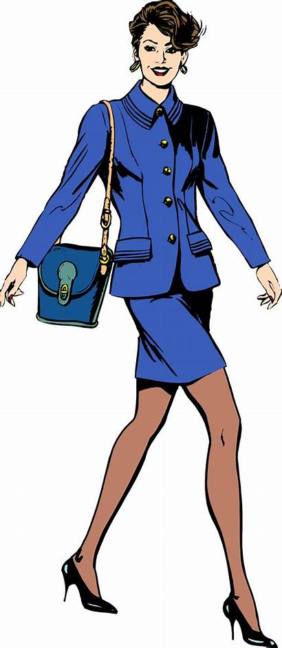 Clipart Woman Suit Business Office