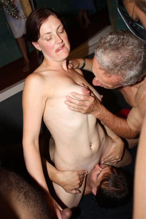 Real amateur gangbang and orgies from a private sex club