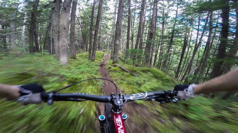 An Exciting Downhill Mountain Bike Ride Filmed With a ...
