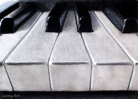 piano keys in charcoal in drawing and sketching supplies