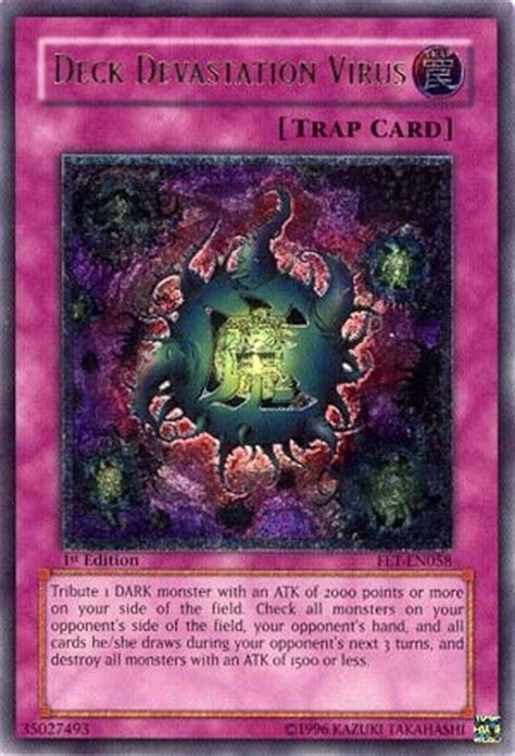 deck devastation virus fet en058 ultimate rare