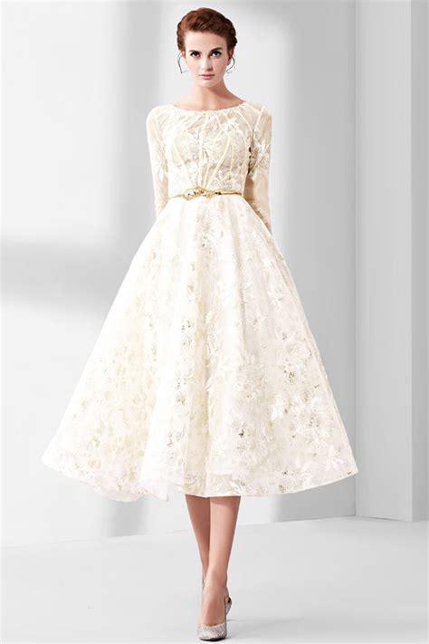 robe de soirée mi longue pour mariage robe chic en dentelle mi longue pour soir 233 e c 233 r 233 monie