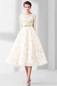 robe chic en dentelle mi longue pour soiree ceremonie With robe mi longue manche longue