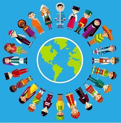 Multicultural Children Earth Planet National Gente Mundo