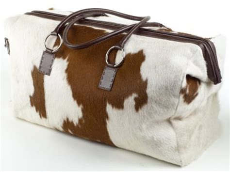 Cowhide Overnight Bag - travel the cowhide duffle bag