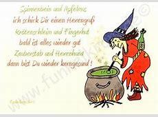 Hexenkarte Gute Besserung Funkelkramde
