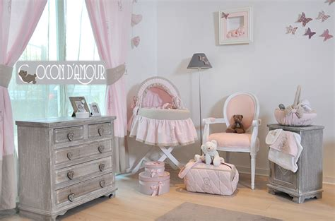 deco chambre bebe rose  taupe