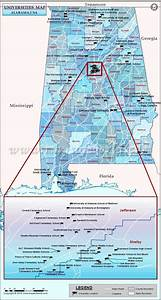 List of Universities in Alabama, Map of Alabama ...