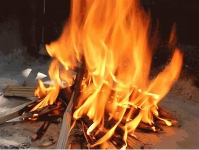 Fire Campfire Gifs Build Fogo Open Lasts