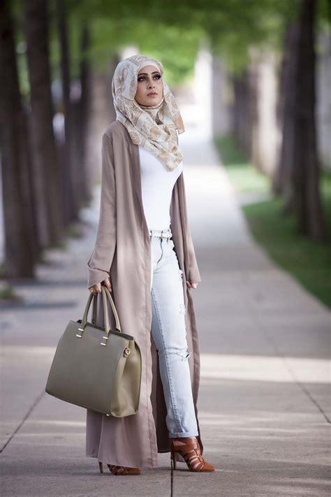 outstanding long kimono cardigan outfits  hijab