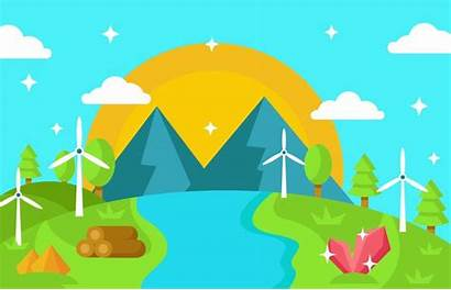 Vector Wind Resources Water Nature Turbine Clipart