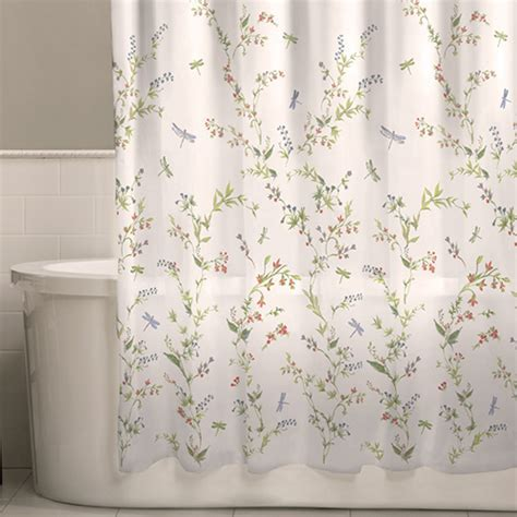 Dragonfly Garden Fabric Shower Curtain   Boscov's