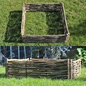 Jardin En Carré : carr potager noisetier 100x crochets carr potager ~ Premium-room.com Idées de Décoration